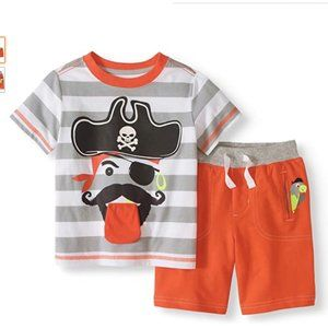 Healthtex 2-Pc Outfit Shirt & Shorts Pirate Boys